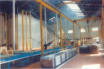 Vertical Powder Coating Plant